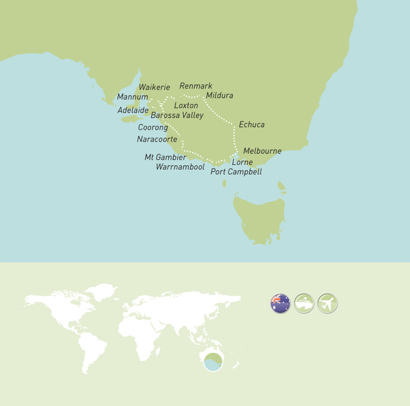 Maher Tours Tour Programme Murray River MAP