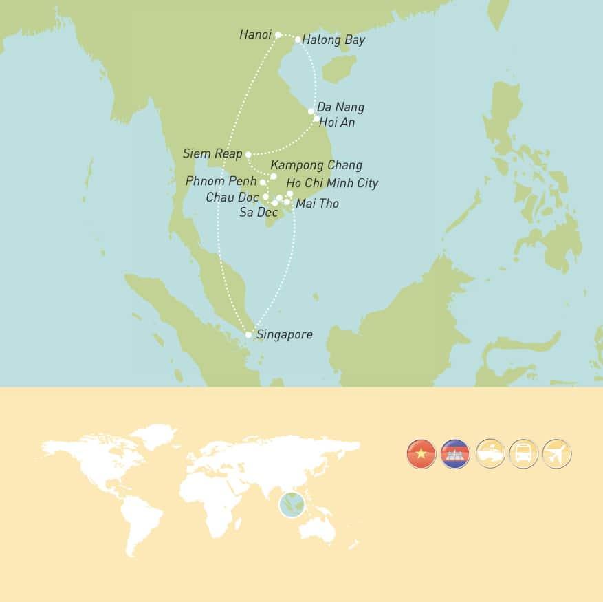 Maher Tours Tour Programme_Asian Adventure MAP