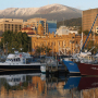 Sullivan's Cove, Hobart, and Mt Wellington